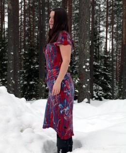 Валяное платье «Коломбина»