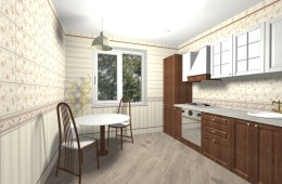 Kitchen and Bathroom made with ceramic tiles Kerama Marazzi