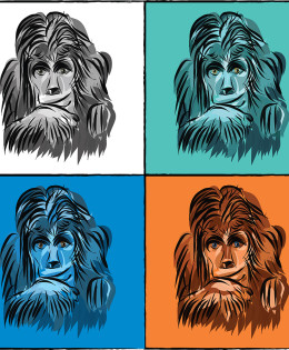 Pop art monkeys