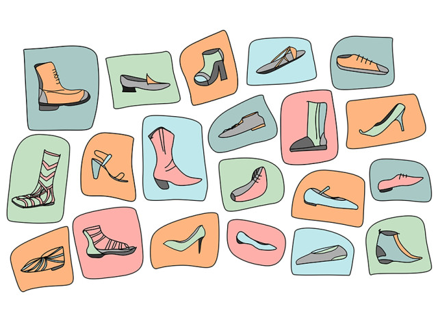 Pop Art Shoes Icons
