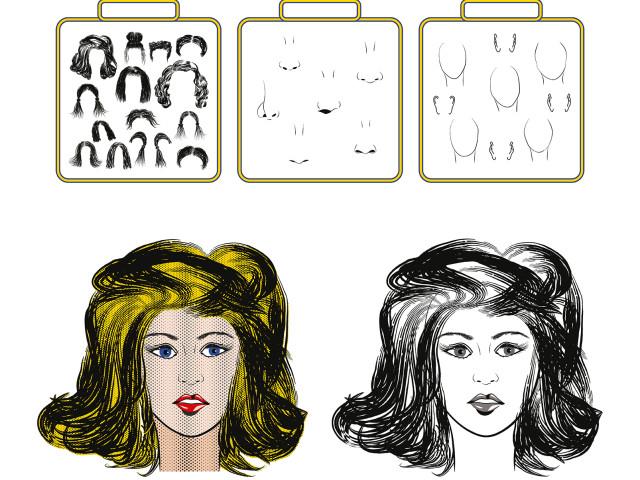 Набор дизайнера: Поп-арт портрет. Конструктор лица.