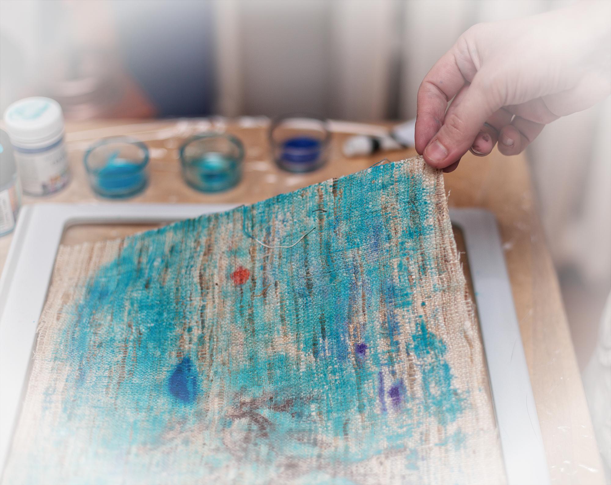 monotype, lesson, Master Class, silk, paint, workshop, hand print, монотипия, мастер-класс, семинар, урок, ручная печать, ткань, принт, шелк, рабочий процесс, work process, gravity, сила тяжести, first print, первый отпечаток