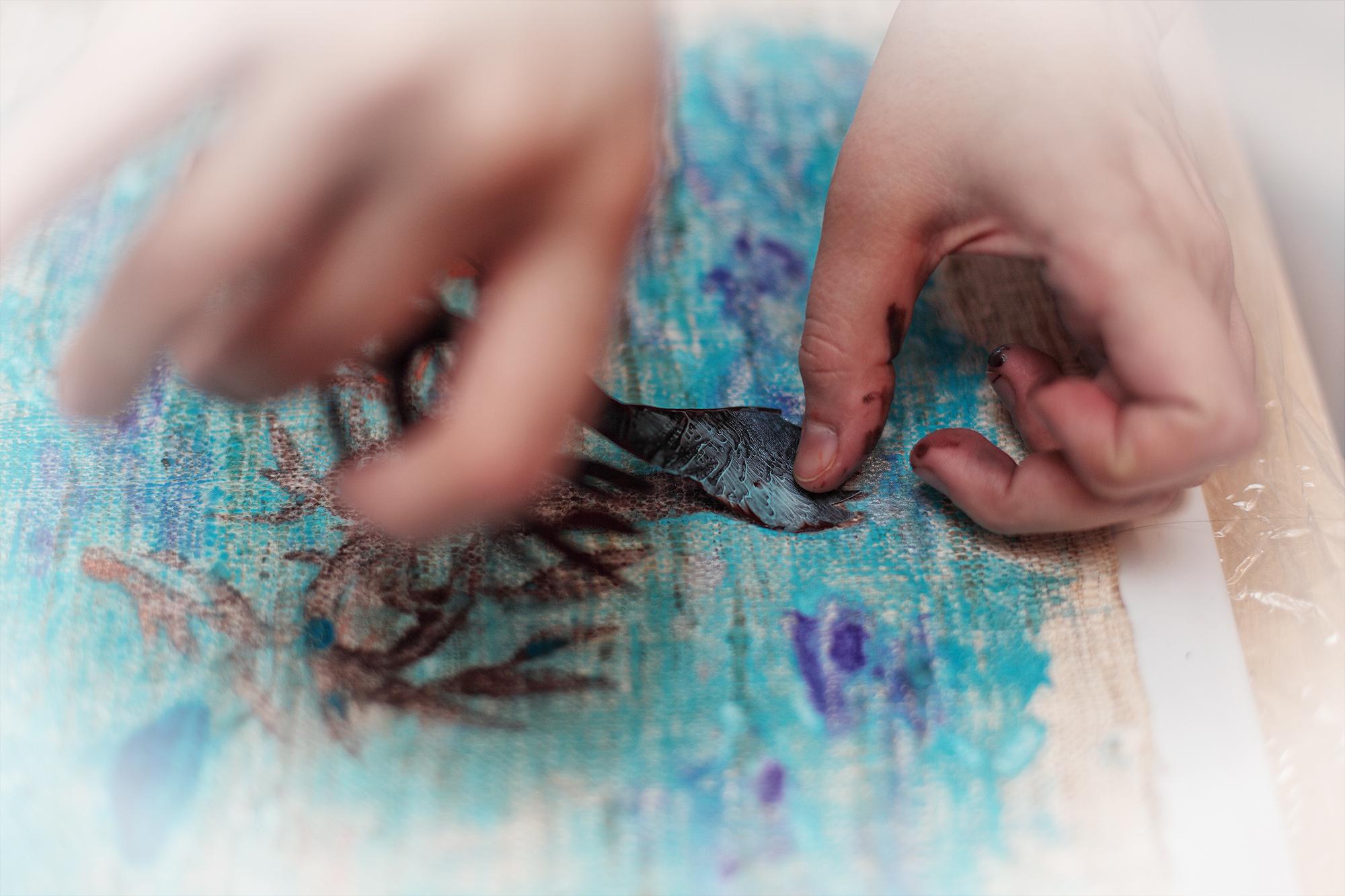monotype, lesson, Master Class, silk, paint, workshop, hand print, монотипия, мастер-класс, семинар, урок, ручная печать, ткань, принт, шелк, tree, дерево